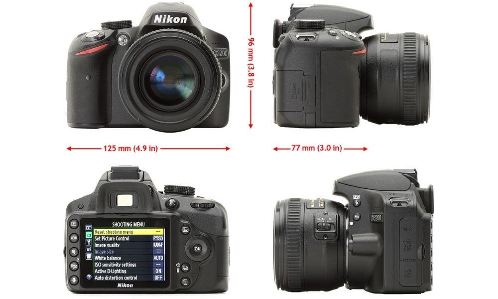 Kích thước của Nikon D3200