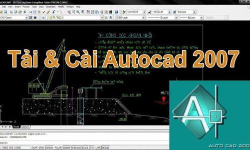 Download Autocad 2007 Full Crack Miễn Phí 32/64bit Bản Chuẩn